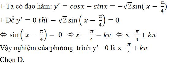 Đạo hàm và bài toán giải phương trình, bất phương trình lượng giác | Toán lớp 11